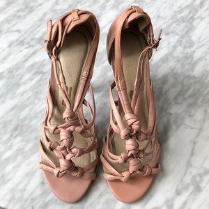 Like New! Pale pink Santa Lolla leather heels